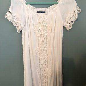 White Summer Shift Dress